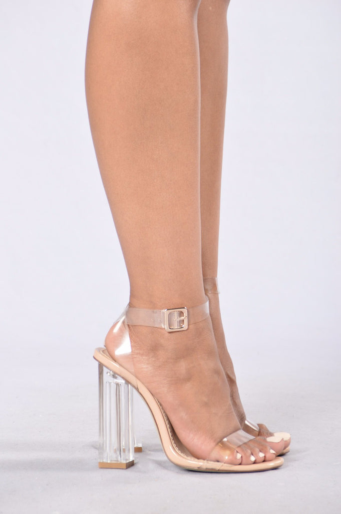 Talk That Talk Clear Heels | Nude
