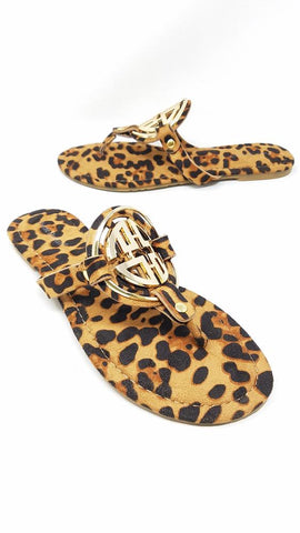 Take Over Designer Inspired Sandals | Leopard Print