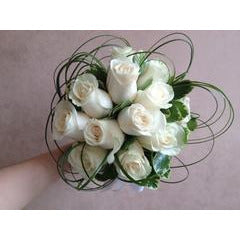White Rose Whirl Bouquet