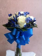 Blue Spotted Rose Bouquet