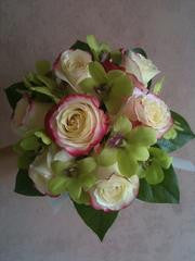 Cherry-Green Orchird Bouquet