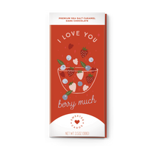 Load image into Gallery viewer, I LOVE YOU BERRY MUCH Sea Salt Caramel Dark Chocolate