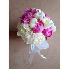 Spotted Pink Peony Bouquet