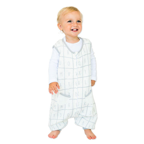 Alphabet Dreamsuit - 0.6 TOG Toddler Sleepsack With Legs - Tealbee