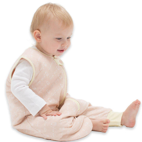 Toddler Bamboo Sleeping Bag - Love Milk Peach/Yellow Sleepsuit