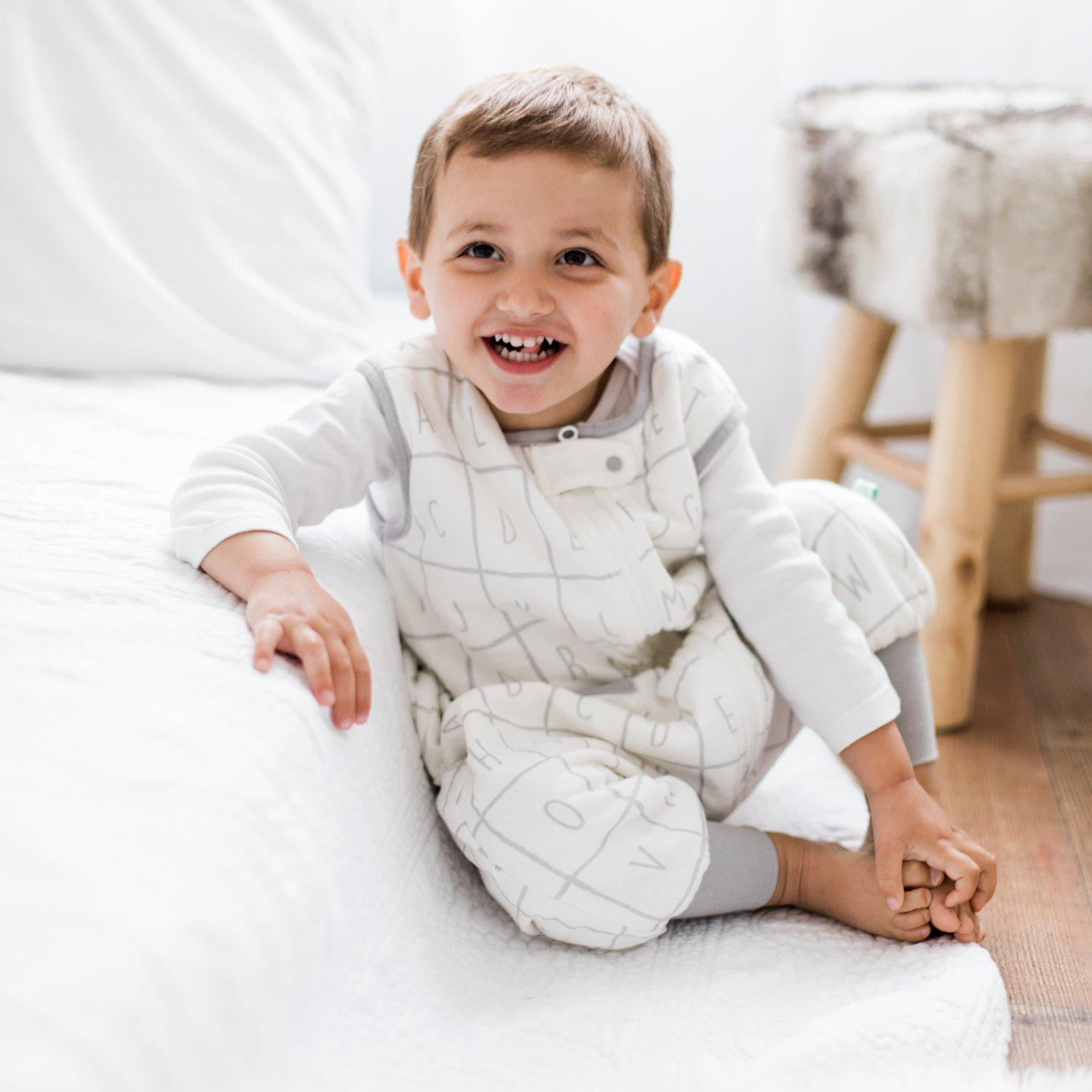 Alphabet Dreamsuit - 1.2 TOG Sleep Sack For Toddlers - Tealbee