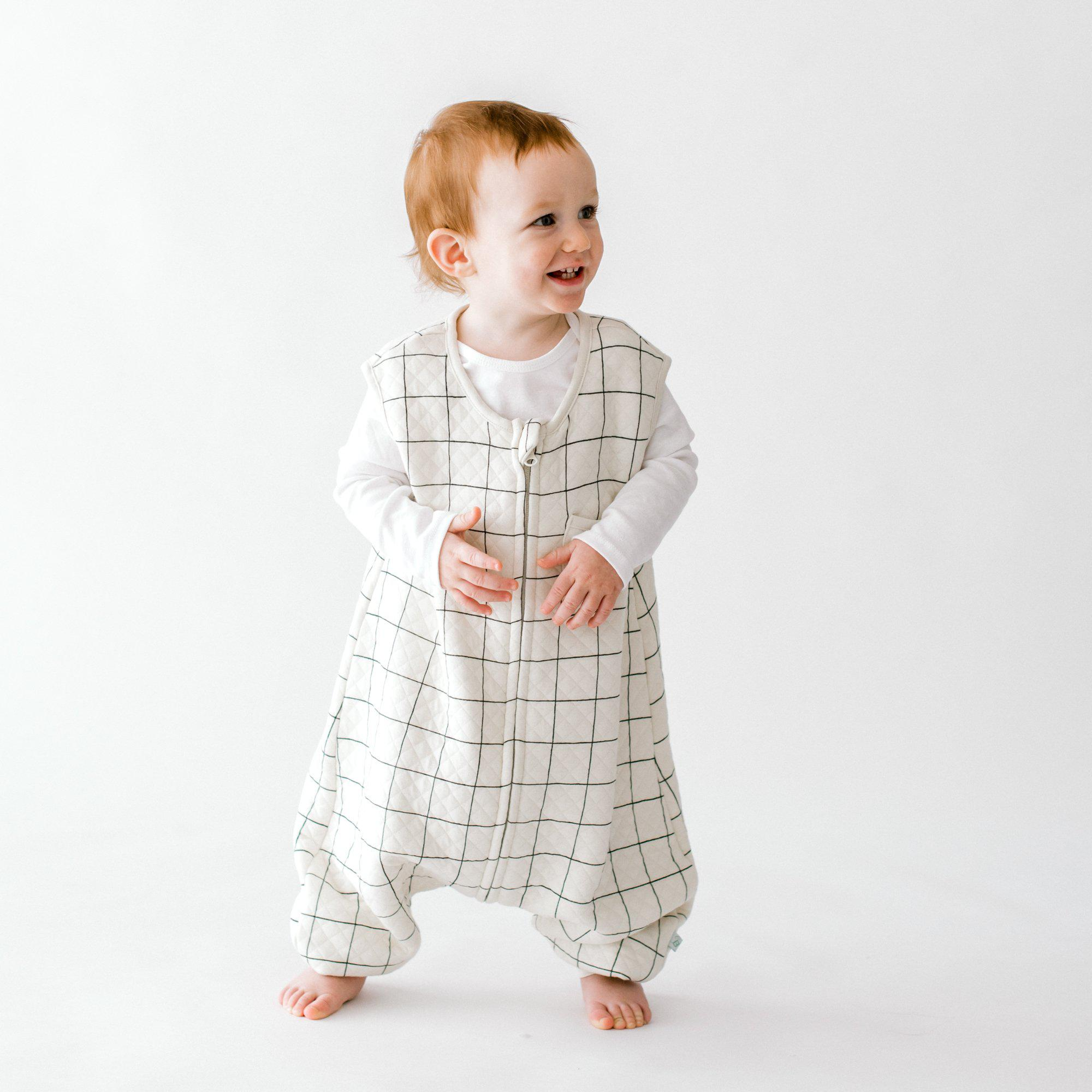 Checkered Dreamsuit - 0.8 TOG Toddler Sleep Bag With Legs - Tealbee