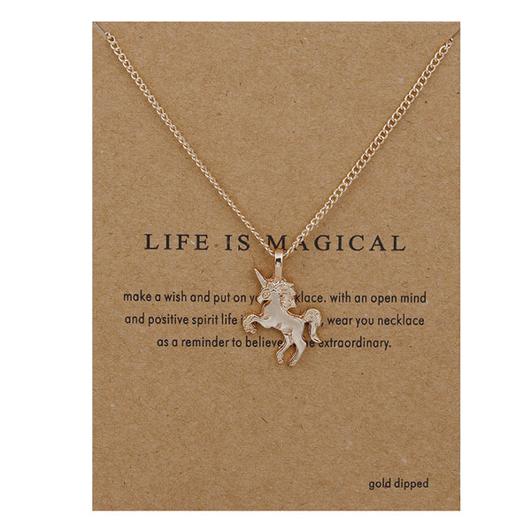 Handcrafted Gold Unicorn Necklace Pendant