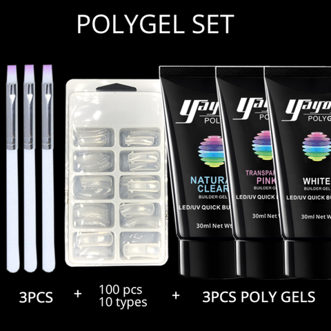 Poly Gel Builder Quick Extension Nail Set