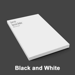 Notepads - Black and White
