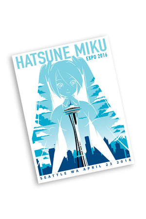 Hatsune Miku 4/23/16 Seattle Event Poster