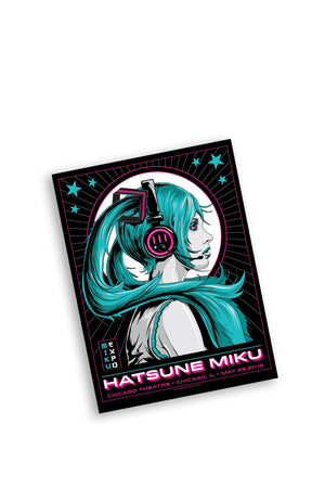 Hatsune Miku 5/25/16 Chicago Event Poster