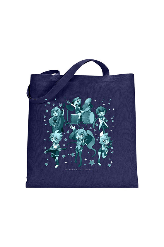 Hatsune Miku Group Tote Bag Navy