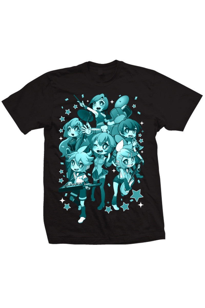 Hatsune Miku Group Tee Black