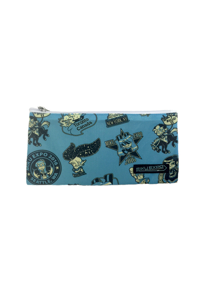Hatsune Miku Patches Pouch Turquoise
