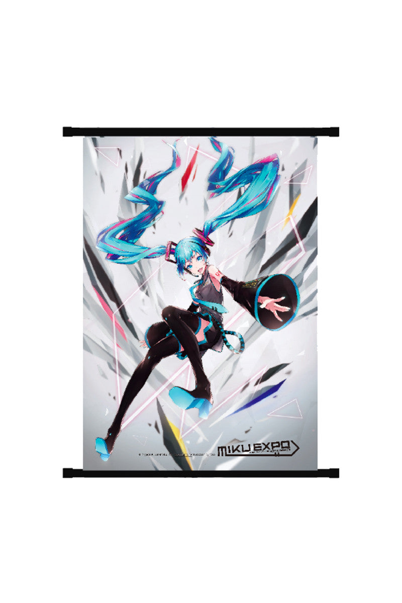 Hatsune Miku Shattered Wall Scroll White