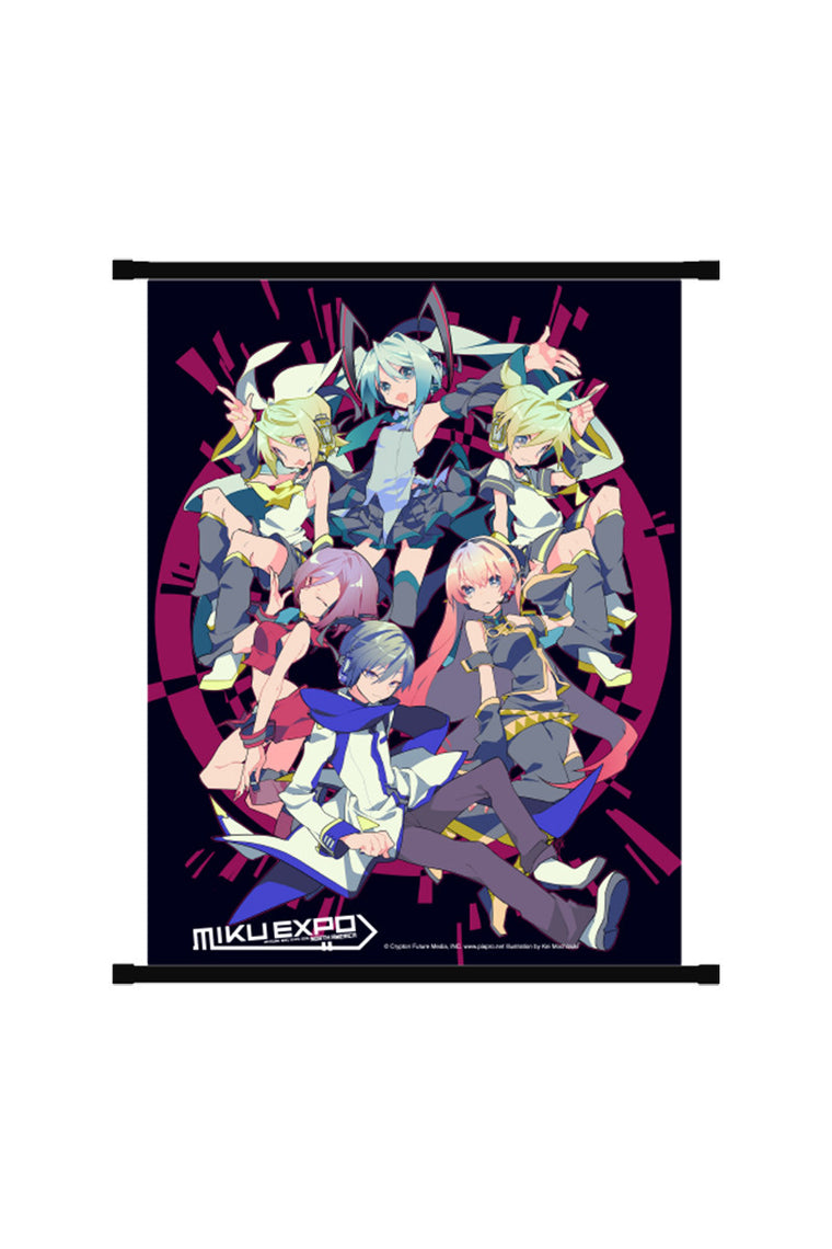 Hatsune Miku Together Wall Scroll Black