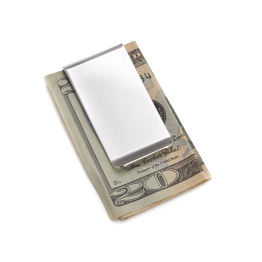 Silver Plated Money Clip.