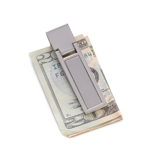 Silver Plated Hinged Money Clip.