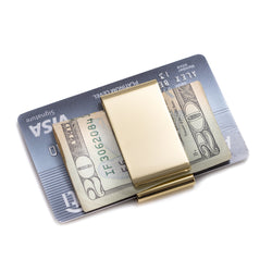 Gold Plated Twin Slot Money Clip.