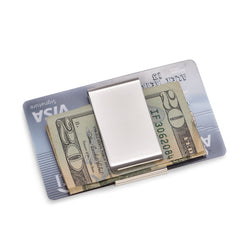Silver Plated Twin Slot Money Clip.