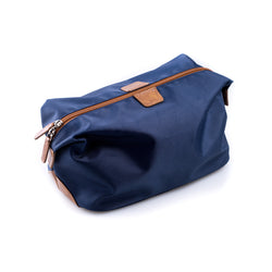 Blue Ballistic Nylon Travel Dopp Kit with Multi Compartments and Zippered.