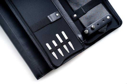 Ballistic Black Nylon Travel Tie Case