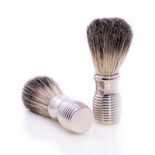 Pure Badger Shaving Brush with Chrome Handle.