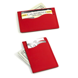 Slim Wallet. Red Leather, T.P.