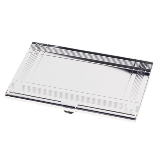 Pocket Business Card Holder, Silver Plated. Note: This item is also offered with professional insigna. Please see item #'s D156B, D156C, D156D, D156L, D156M, D156N and