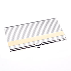 Pocket Business Card Holder, Silver & Gold Plated, T.P.