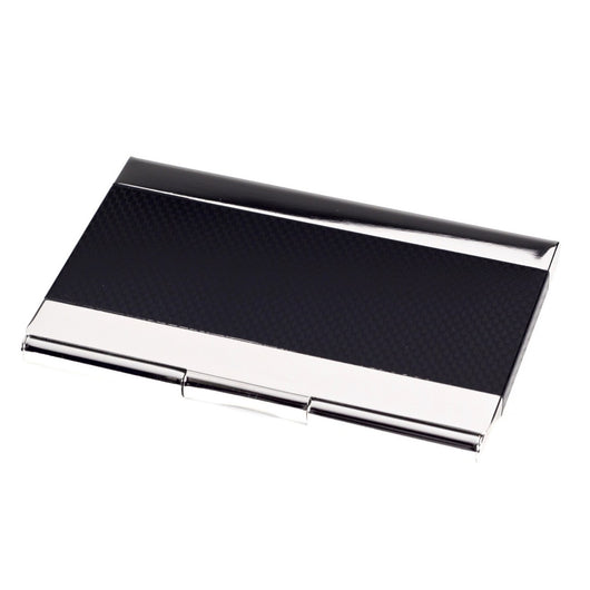 Pocket Business Card Holder, Silver / Black, T.P.