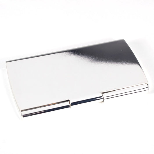 Pocket Business Card Holder, Silver Plated, T.P.
