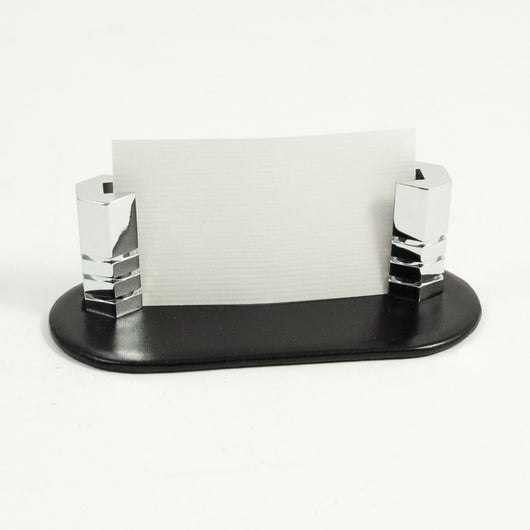 Business Card Holder in Black Leather.