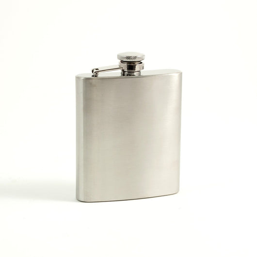 7 oz. Stainless Steel Flask in Satin Finish.