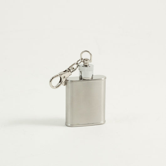 1 oz. Stainless Steel Chrome Key Ring Flask in Satin Finish.