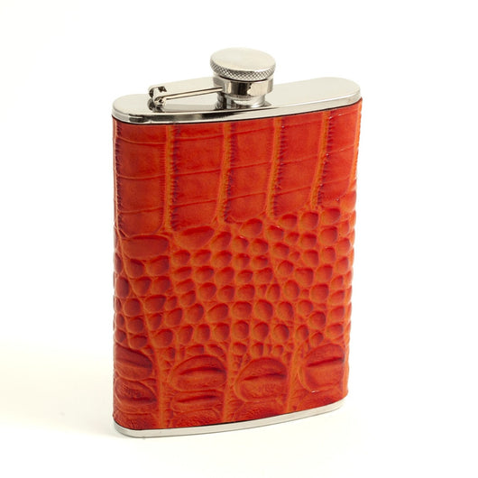 8 oz. Stainless Steel Flask in Orange