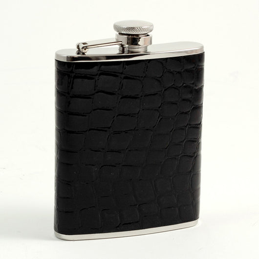 6 oz. Stainless Steel Flask in Black