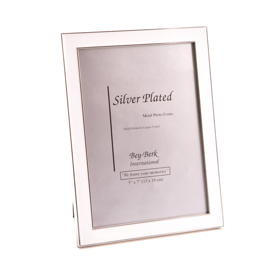 Silver Plated with White Enamel 5