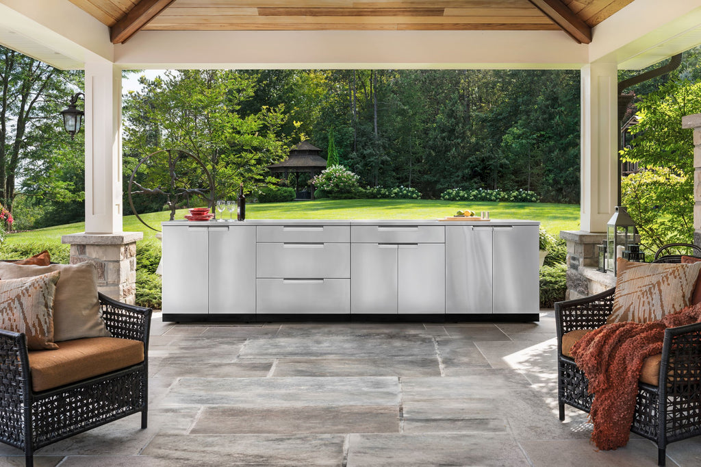 Outdoor Kitchen Stainless Steel 2 Piece Cabinet Set Newage Products