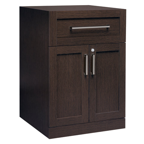 Espresso 2-Door with Drawer Home Bar Cabinet