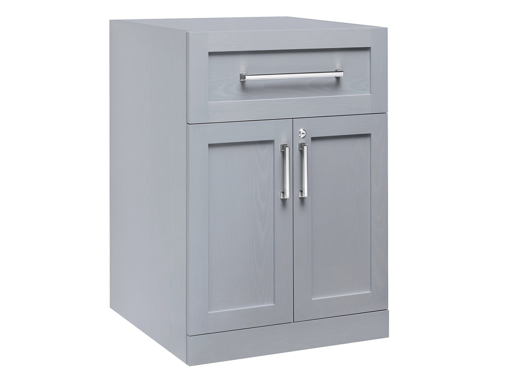 2-Door with Drawer Home Bar Cabinet IN Gray