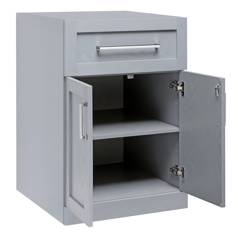 Gray 2-Door with Drawer Home Bar Cabinet Inner View