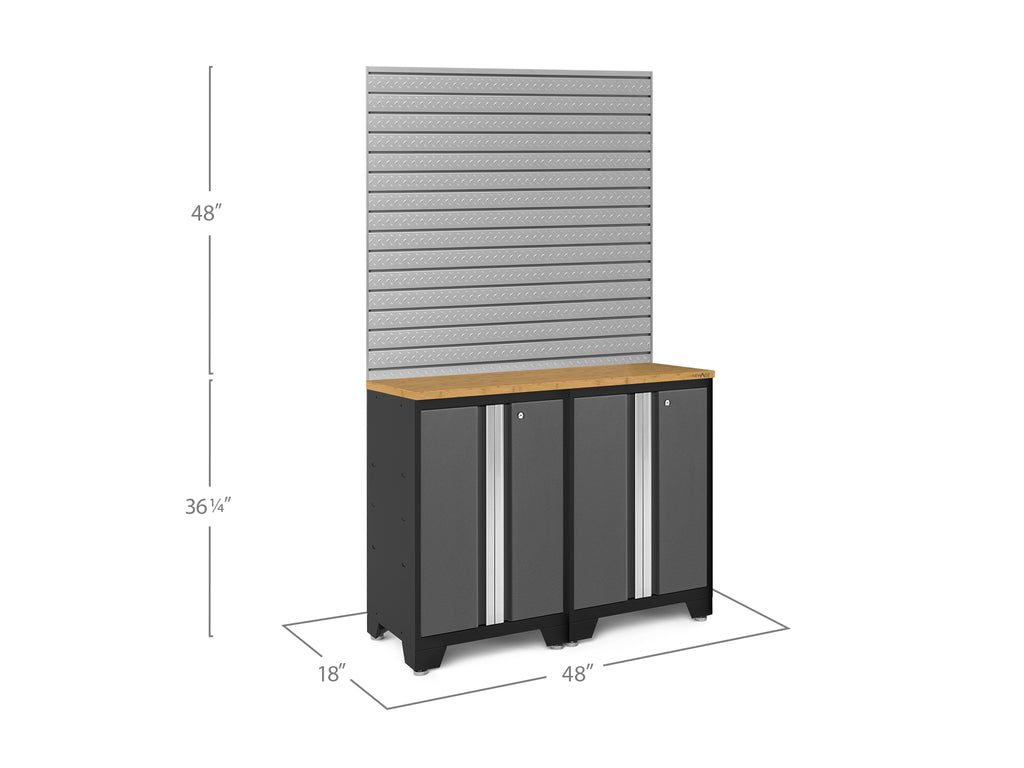 Bold Series 3.0 Gray 3 Piece Cabinet Set