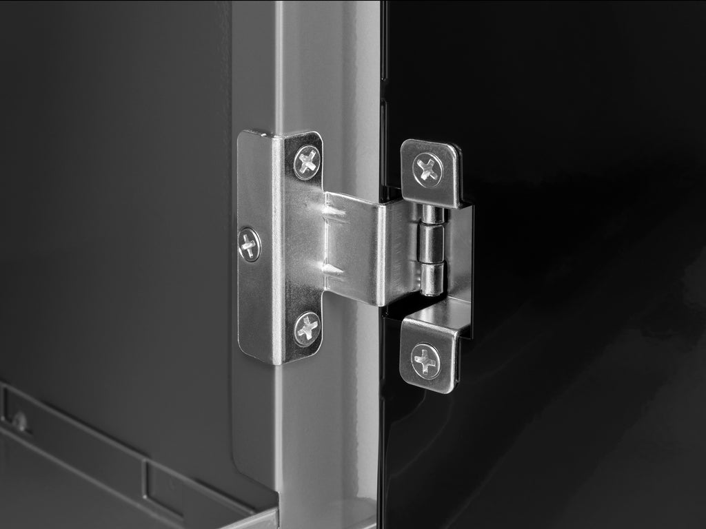 Silver Diamond Plate Doors with Stainless Steel Top / LED Light Only