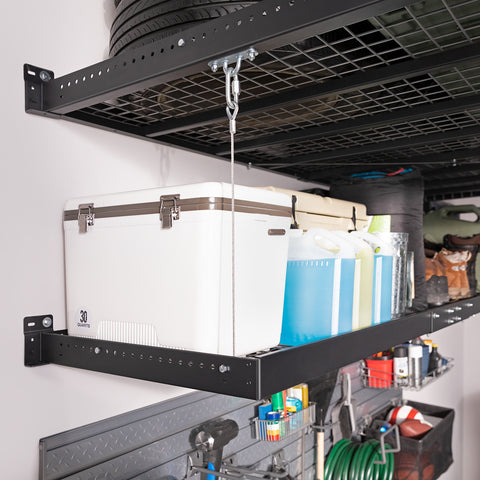 Pro Series 2 ft. x 8 ft. Wall Mounted Steel Shelf