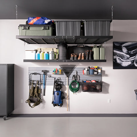 Pro Series 4 ft. x 8 ft. Wall Mounted Steel Shelf
