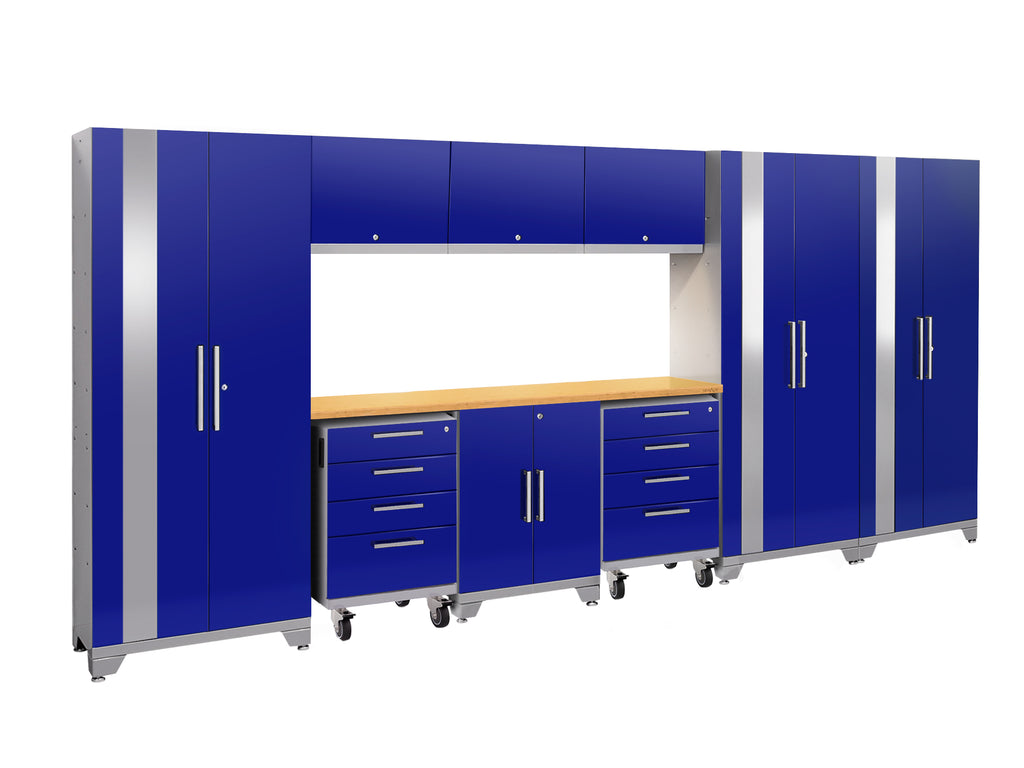 Blue Doors with Bamboo Top / LED Light Only