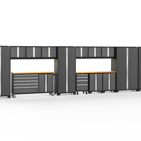 Gray Doors with Bamboo Top / LED Light Only