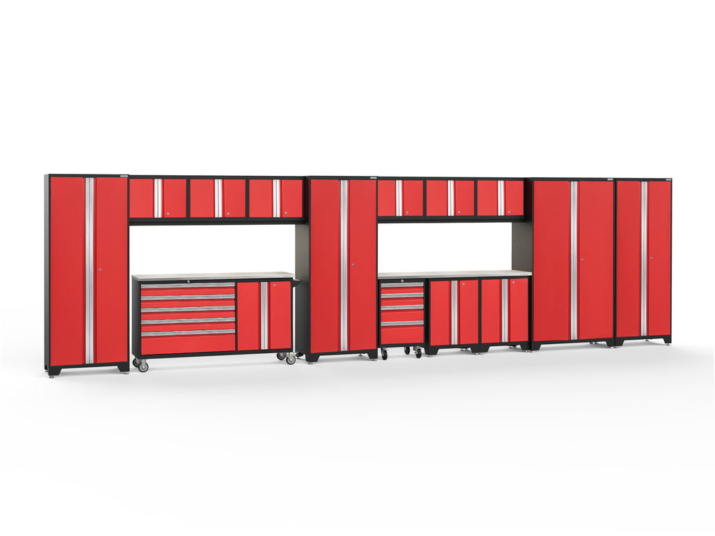 Red Doors with Stainless Steel Top / LED Light Only